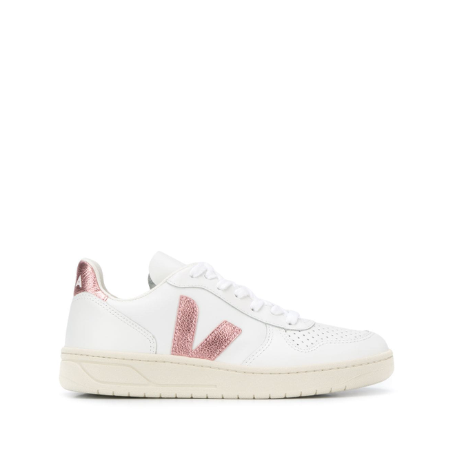 Veja V-10 Leather W (Extra White / Nacre) VXW021907