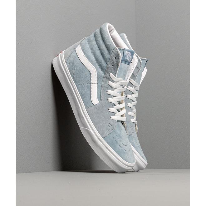 Vans SK8-Hi (Pig Suede) Blue Fog/ True White