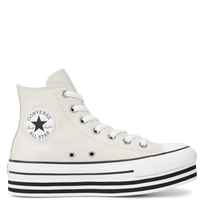 Chuck Taylor All Star Platform Leather High Top | 565867C