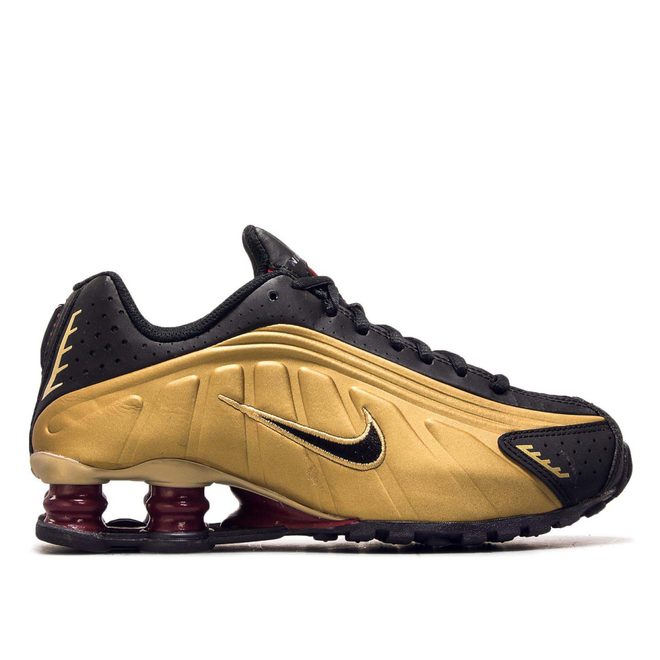 Damen Sneaker Shox R4 Gold Black