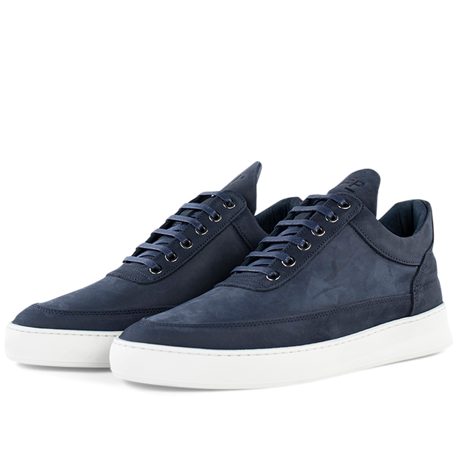 Filling Pieces Low Top Plain Lane Nubuck 'Blue'
