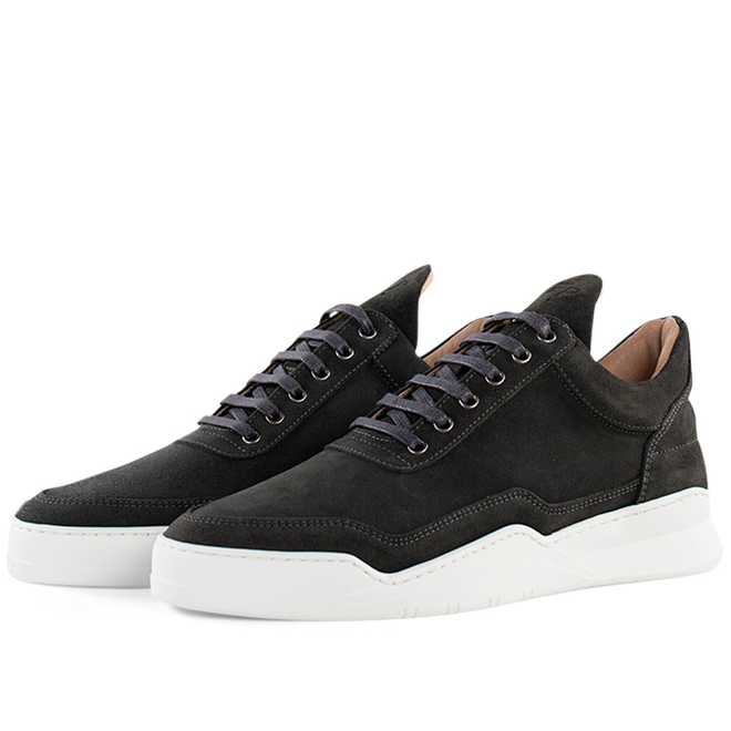 Filling Pieces Low Top Ghost Suede 'Antracite'