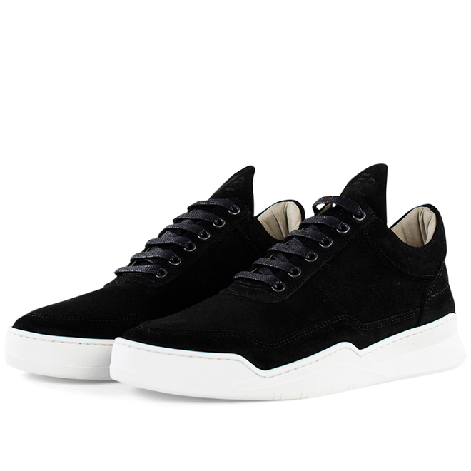 Filling Pieces Low Top Ghost Suede 'Black'