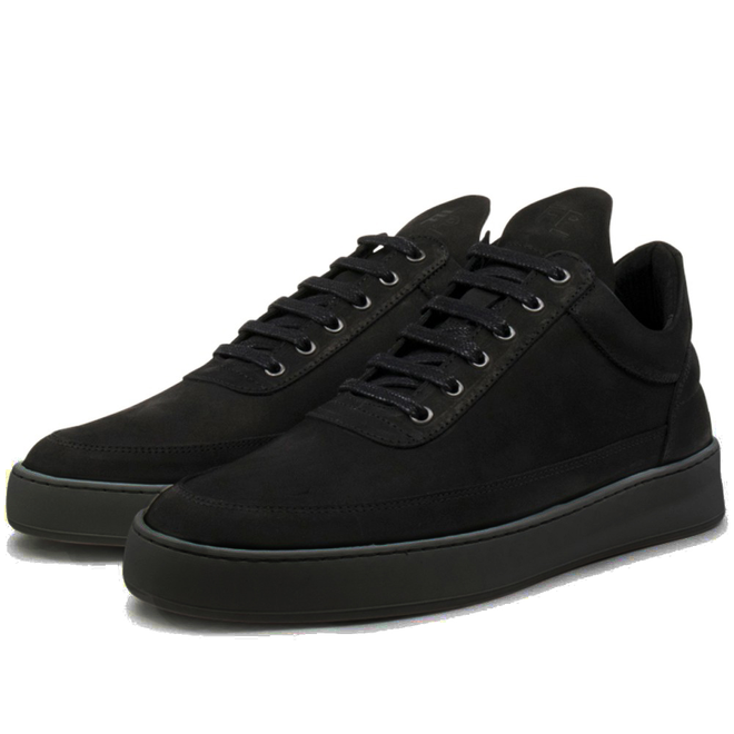 Filling Pieces Low Top Plain Lane Nubuck 'All Black'