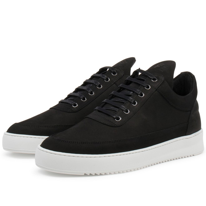 Filling Pieces Low Top Ripple Basic 'Black / White'