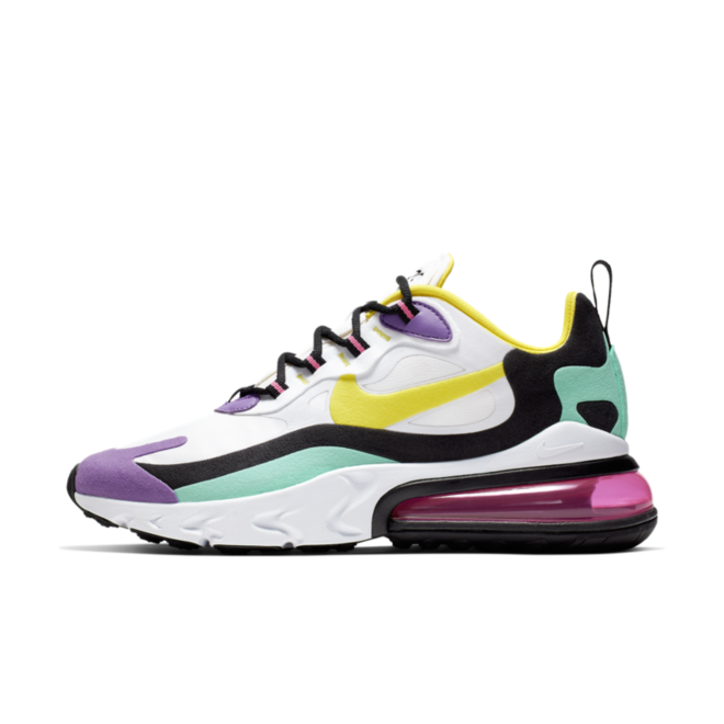 Nike WMNS Air Max 270 React 'Dynamic Yellow' zijaanzicht