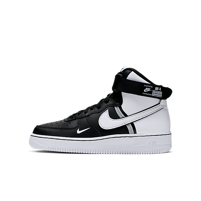 Nike Air Force 1 High Lv8 2 (GS) Black/ White-Wolf Grey-White