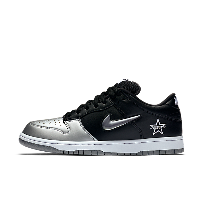 Supreme X Nike SB Dunk Low 'Black/Silver'