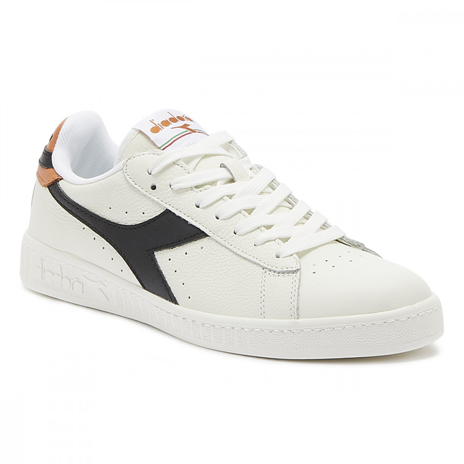 Diadora Game L Low Mens White / Black / Caramel Trainers