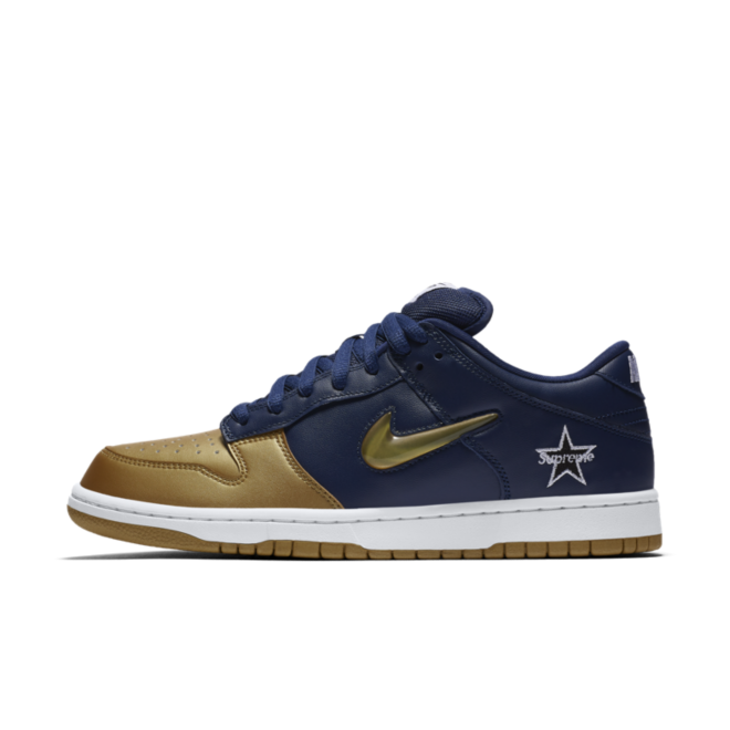Supreme X Nike SB Dunk Low 'Navy Gold'
