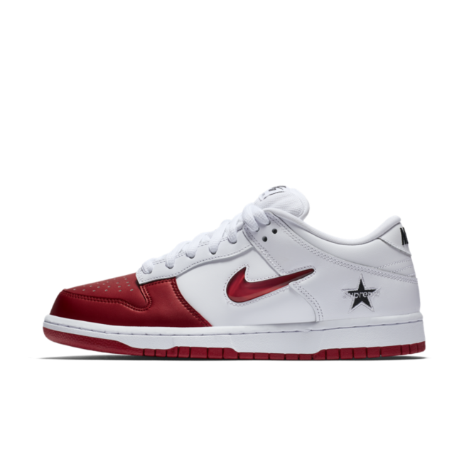 Supreme X Nike SB Dunk Low 'White/Red'