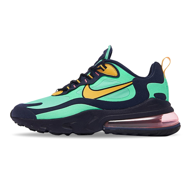 café Caligrafía blanco lechoso  Nike Air Max 270 React (Pop Art) Electro Green / Yellow Ochre | A04971-300  | Sneakerjagers