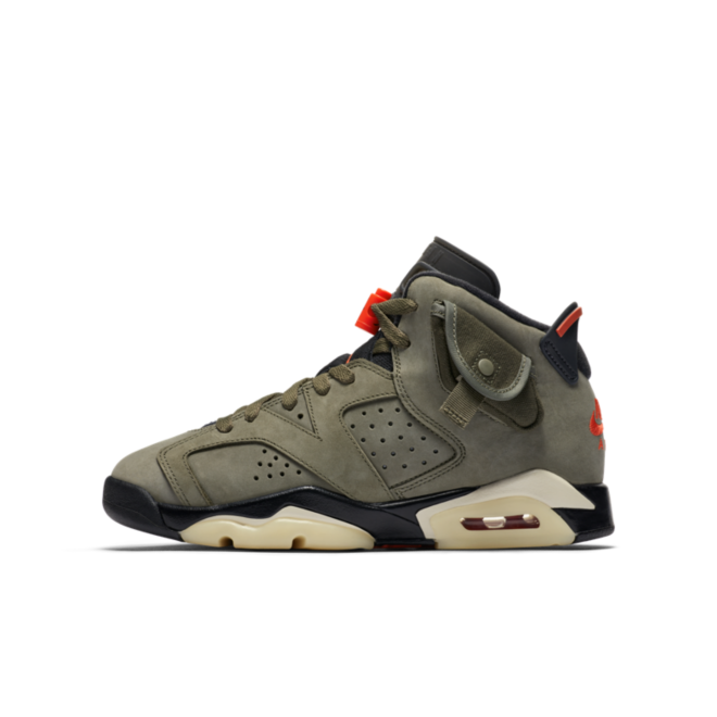 Travis Scott X Air Jordan 6 GS 'Medium Olive' CN1085-200