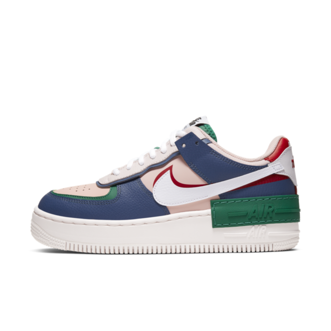 Nike WMNS Air Force 1 Low Shadow ' Navy' zijaanzicht