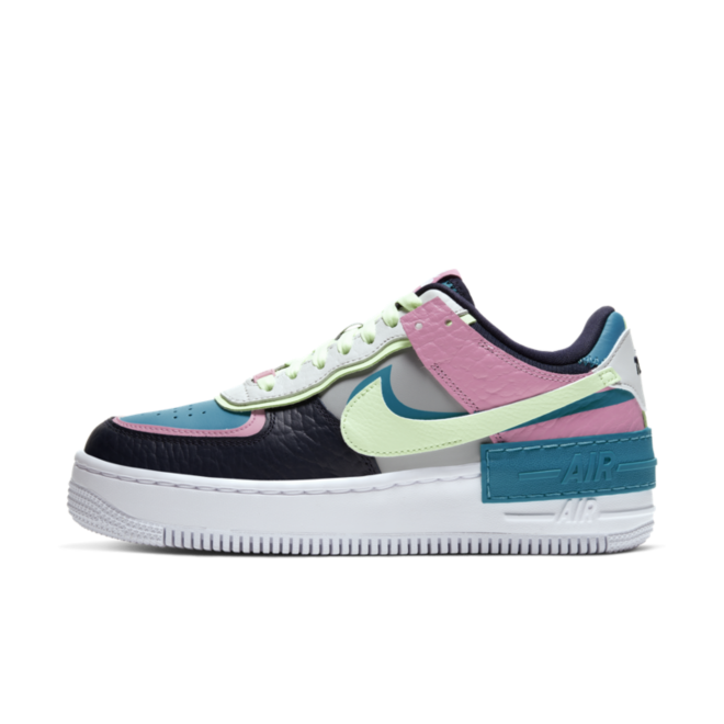 Nike Air Force 1 Low Shadow 'Light Smoke Grey' zijaanzicht