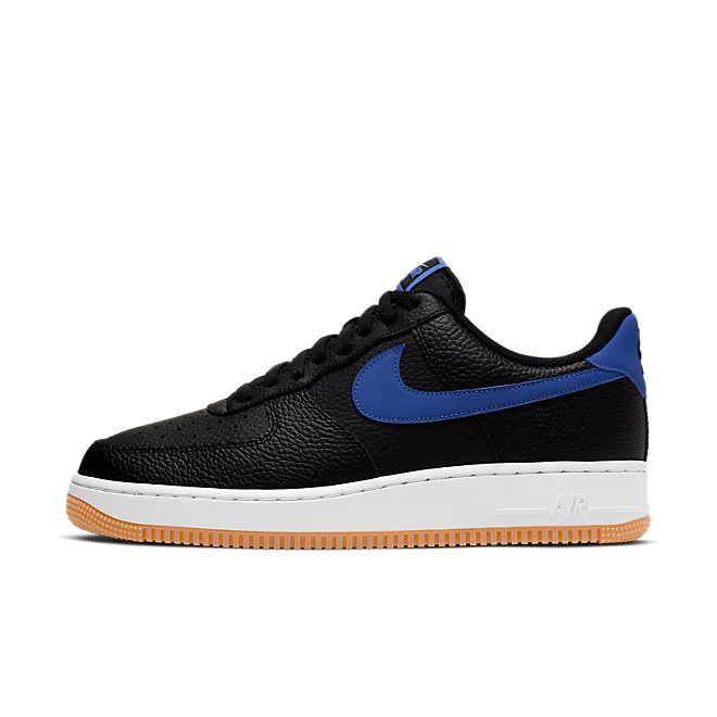 Nike Air force 1 '07 2 (Black / Game Royal - White - Gum Medium Brown