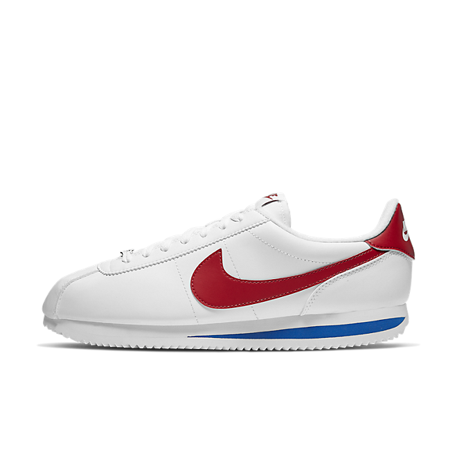 Nike Cortez Basic Leather (White / Varsity Red - Varsity Royal)