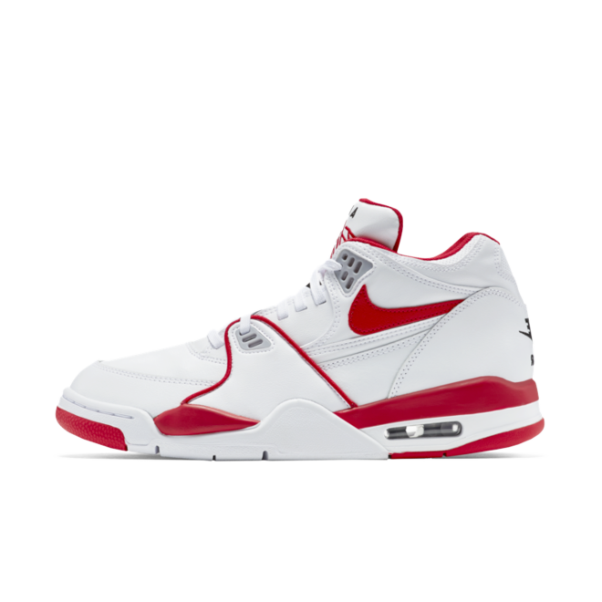 Nike Air Flight 89 LE 'White/Red' zijaanzicht