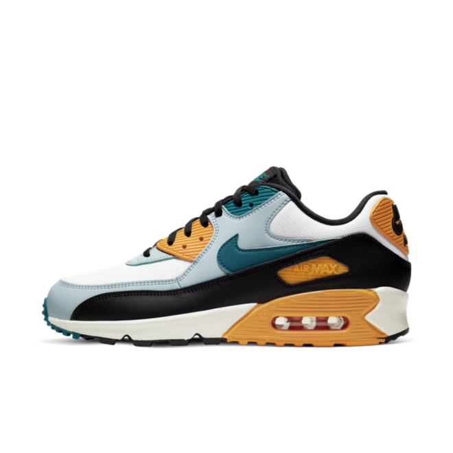 Nike Air Max 90 Essential 'Teal/Yellow' zijaanzicht