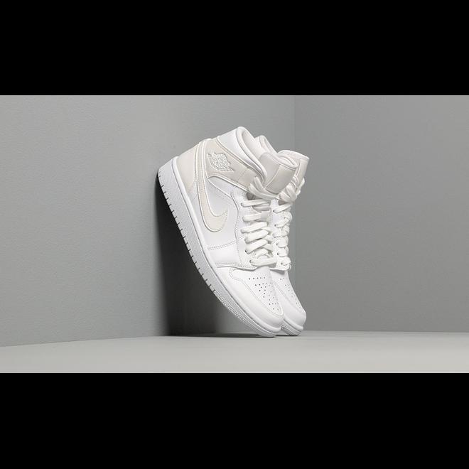 Wmns Air Jordan 1 Mid White/ White-White