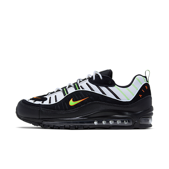 Nike Air Max 98 (Platinum Tint / Black - Electric Green)