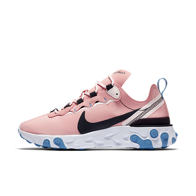 Nike Wmns React Element 55 (Coral Stardust / Oil Grey - Light Soft Pin BQ2728 602