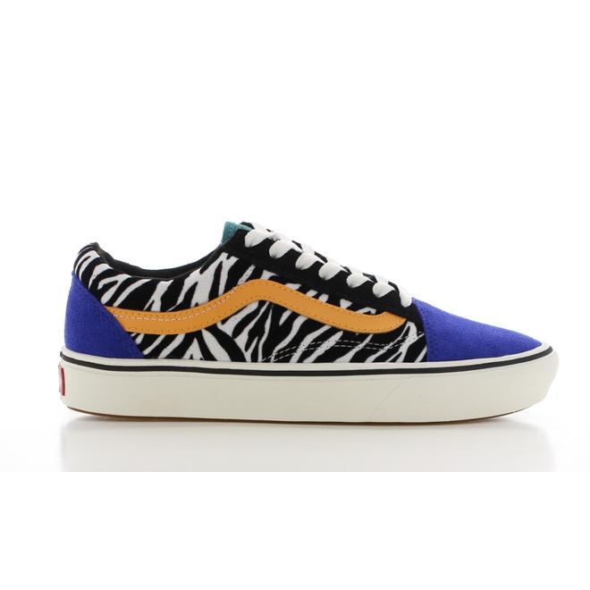 Vans ComfyCush Old Skool Zebra/Blauw