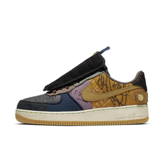 Travis Scott X Air Force 1 Low 'Cactus' zijaanzicht