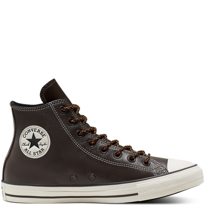 Unisex Tumbled Leather Chuck Taylor All Star High Top