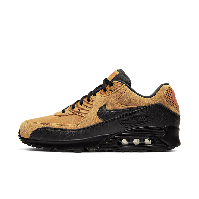 Nike Air Max 90 'Wheat Black' zijaanzicht