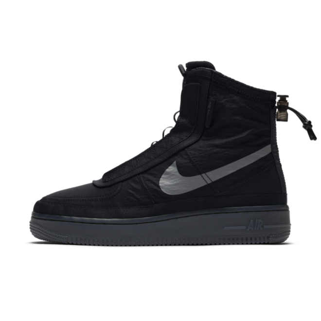 Nike WMNS Air Force 1 Shell 'Black' zijaanzicht
