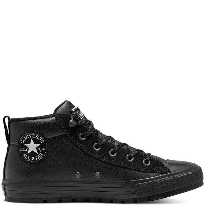 Unisex Converse Chuck Taylor All Star Street Leather Mid Top