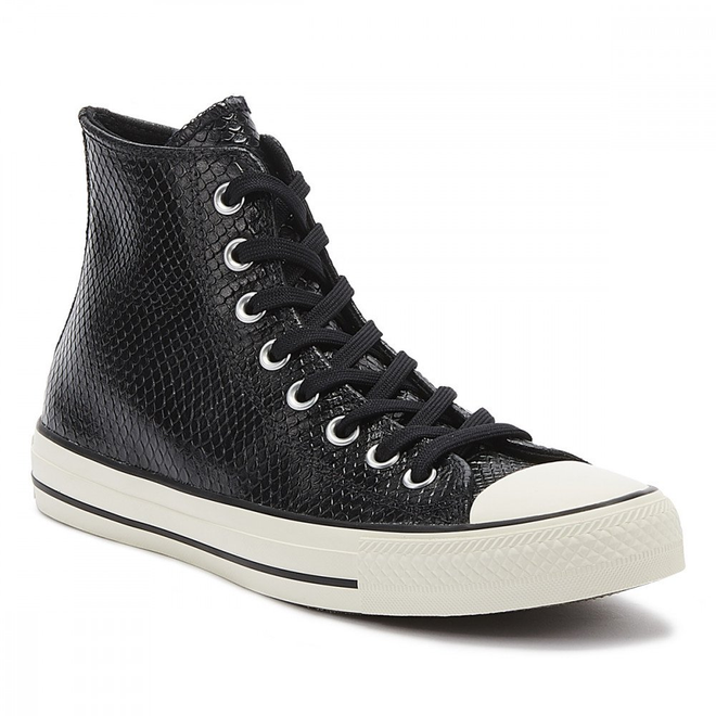 Converse Chuck Taylor All Star Snake Womens Black / White Hi Trainers