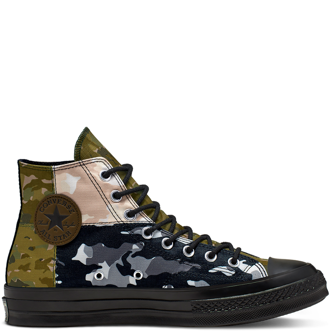 Unisex Blocked Camo Chuck 70 High Top