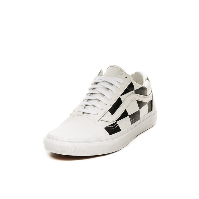 Vans Old Skool *Leather Check* (True White / Black)