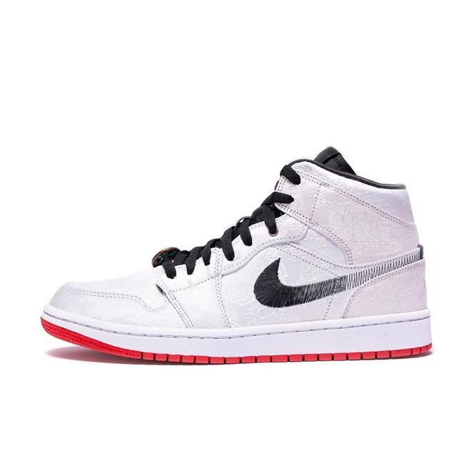 CLOT X Air Jordan 1 Mid 'Fearless' zijaanzicht