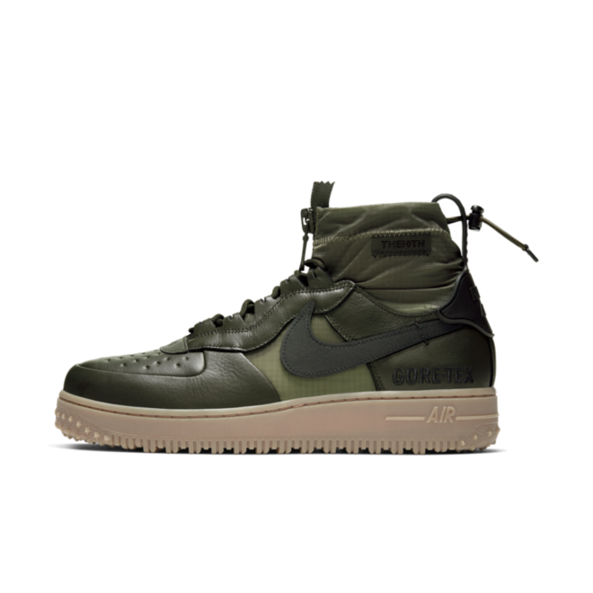 Nike Air Force 1 WTR Gore-Tex 'Green' zijaanzicht