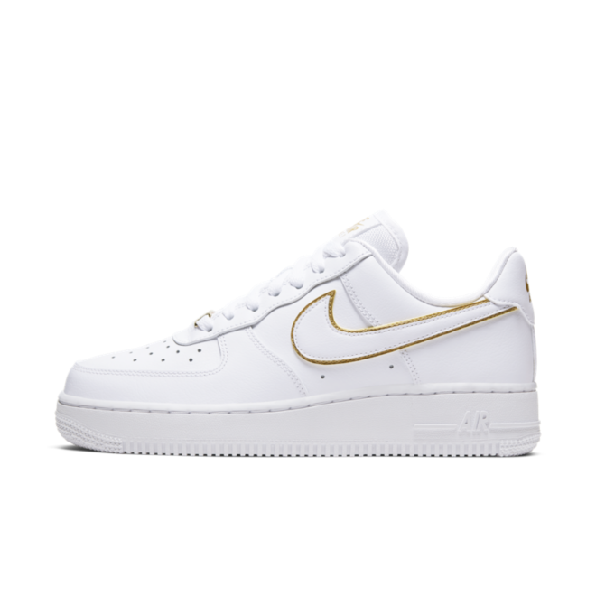 Nike WMNS Air Force 1 '07 'White' Gold Swoosh Pack