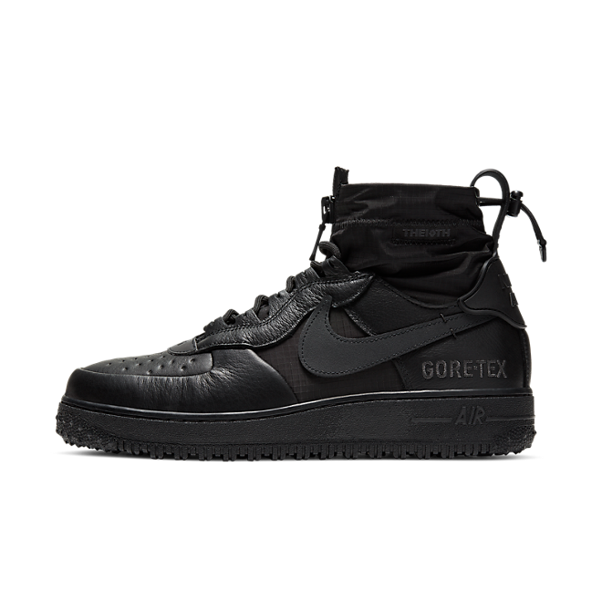 Nike Air Force 1 Winter Gore-Tex 'Black' zijaanzicht