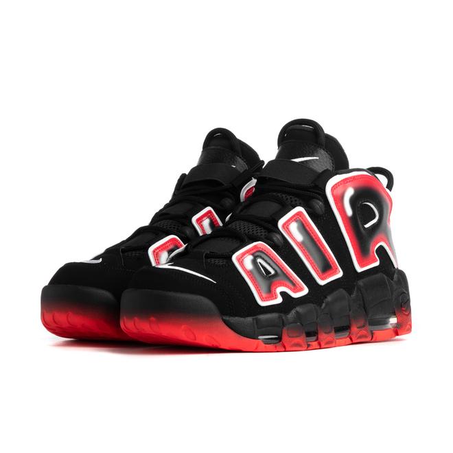 Nike Air More Uptempo '96 QS (Black / White - Laser Crimson)