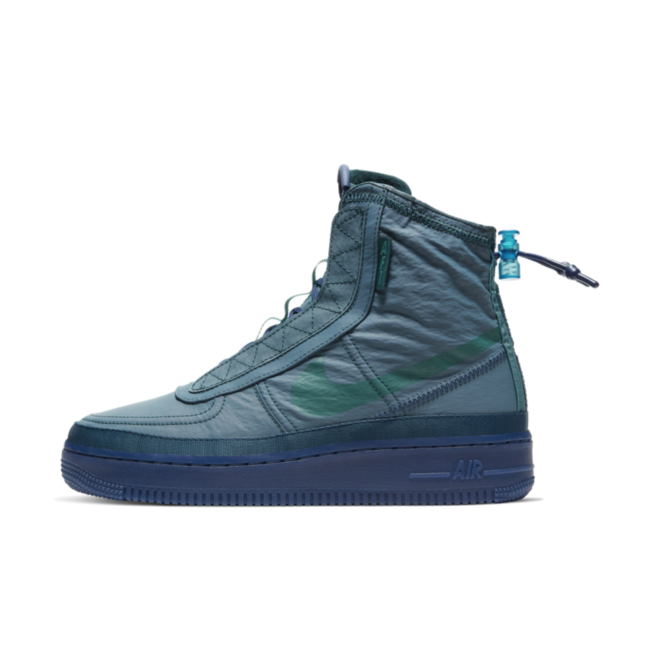 Nike WMNS Air Force 1 Shell 'Blue' zijaanzicht