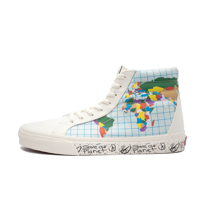 "Vans SK8-Hi Reissue ""Save our Planet Pack - Mutli"" zijaanzicht"
