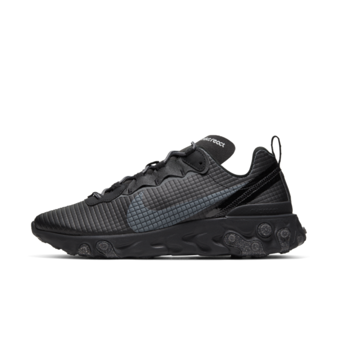 Nike React Element 55 'Quilted Grids - Black' Sneaker releases week 49