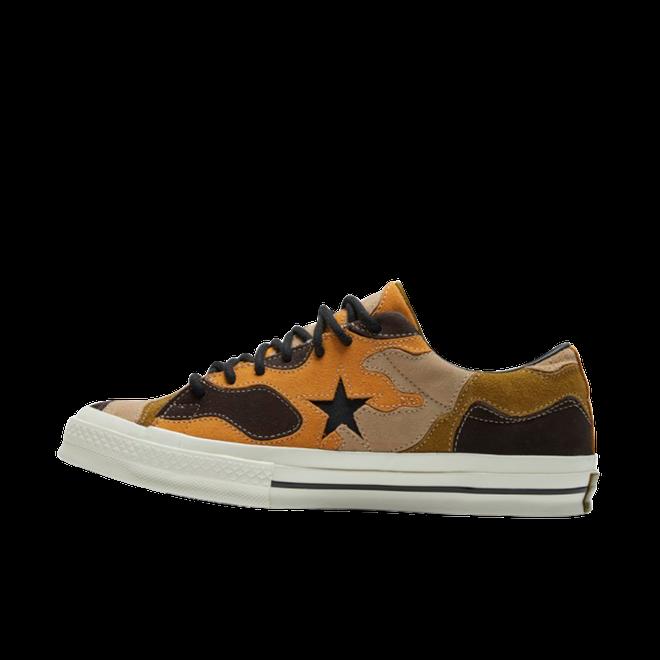 Converse One Star Camo Suede Grüne / Schwarze Niedrige Herren Sneakers