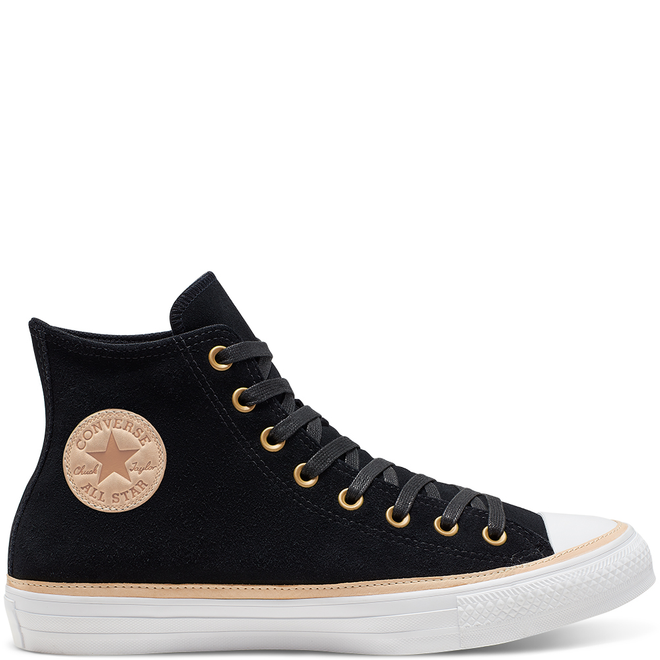 Unisex Vachetta Leather Trim Chuck Taylor All Star High Top