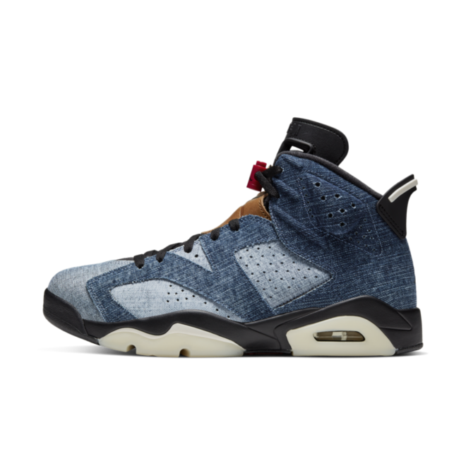 Air Jordan 6 'Washed Denim' zijaanzicht