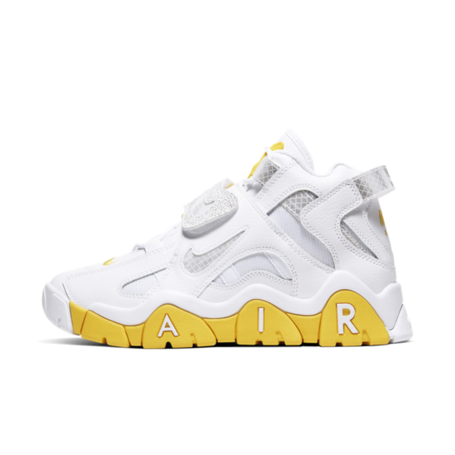 Nike WMNS Air Barrage Mid 'White/Yellow' zijaanzicht