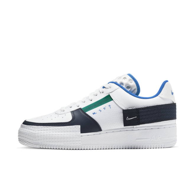 Nike Air Force 1 Type 'Blue' zijaanzicht