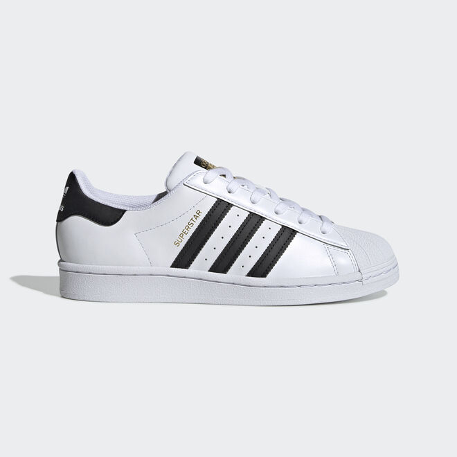 adidas black and white superstar leather