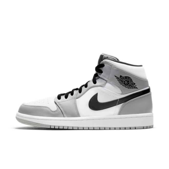 Air Jordan 1 Mid 'Light Smoke Grey' zijaanzicht